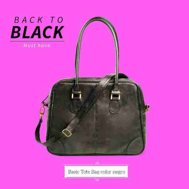 basis tote bag black