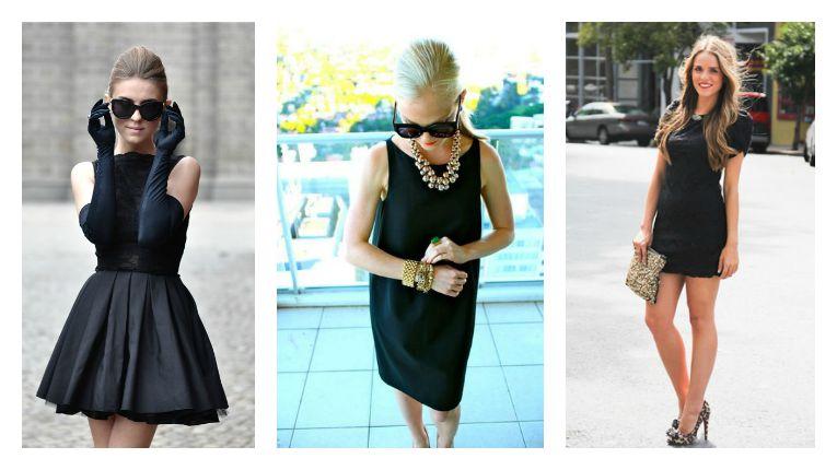 Collar para vestido de noche negro