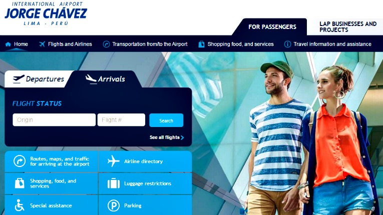 La web del Aeropuerto Internacional Jorge Chávez ya está en la nube